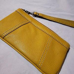 Free Genuine Leather Beige Wristlet w/purchase